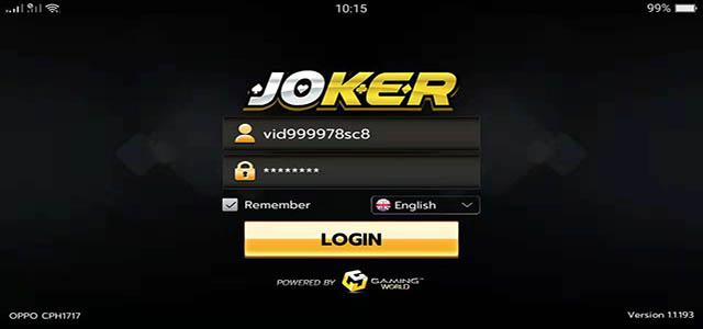 Login Joker123 Apk Android