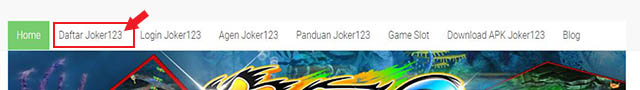 Menu Daftar Ikan Joker123